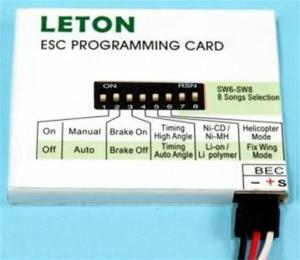 LETON ESC PROGRAM CARD